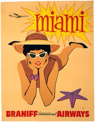 Vintage Miami Travel Poster