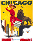 Vintage Chicago Travel Poster
