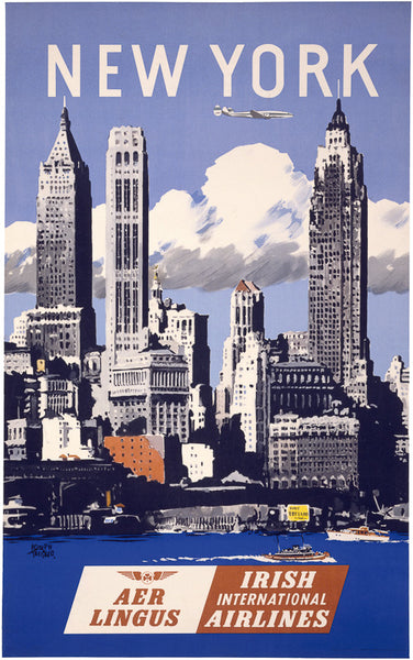 vintage new york travel poster vintagraph prints. Black Bedroom Furniture Sets. Home Design Ideas