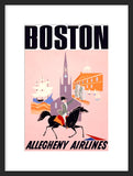 Boston Vintage Travel Framed Poster