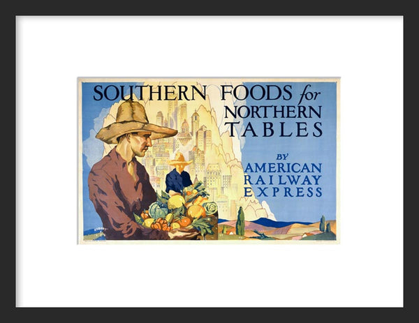 Southern Foods for Northern Tables framed poster