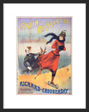 Patin Bicyclette Road Skates framed poster of advertisement