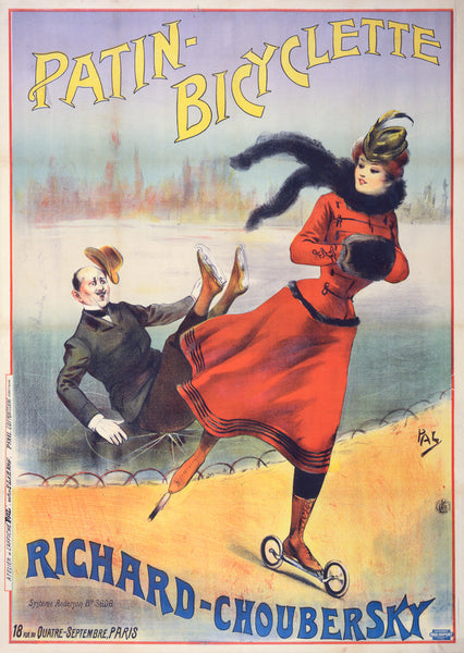 Patin Bicyclette Road Skates poster of advertisement