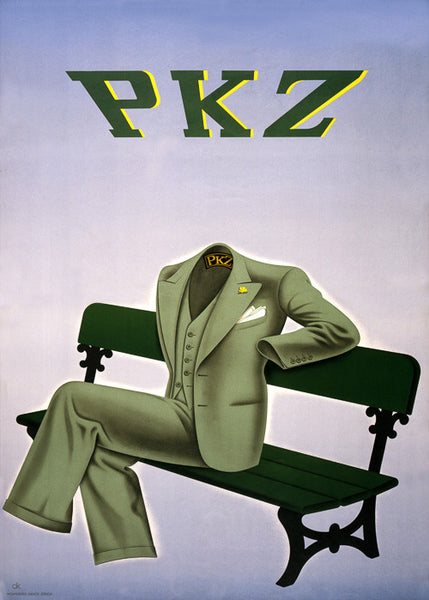 Invisible Man Advertisement for PKZ Clothing