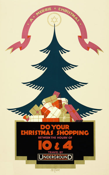 A Merrie Christmas poster