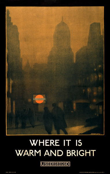 Where It Is Warm and Bright Vintage Travel Poster