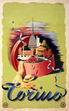Torino, Italy Vintage Travel Poster