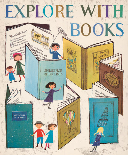 Explore with books poster