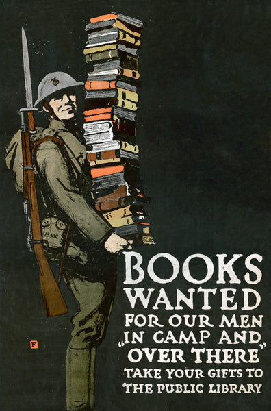 Books Wanted For Our Men in Camp and Over There poster