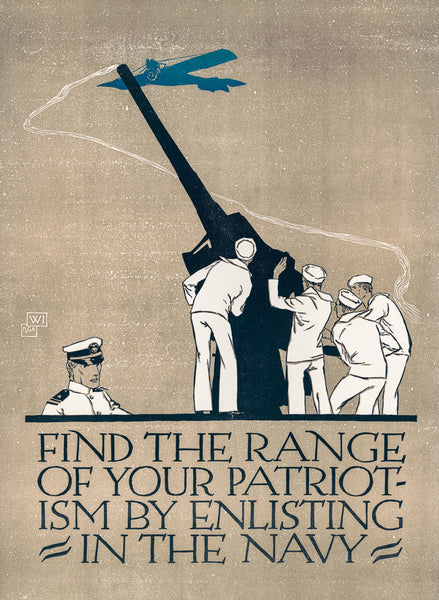 Find the range of your patriotism by enlisting in the Navy poster
