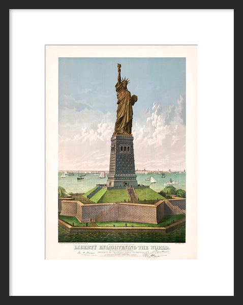 Liberty Enlightening the World framed poster