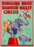 Ringling Bros Circus Elephant and Chimpanzees poster