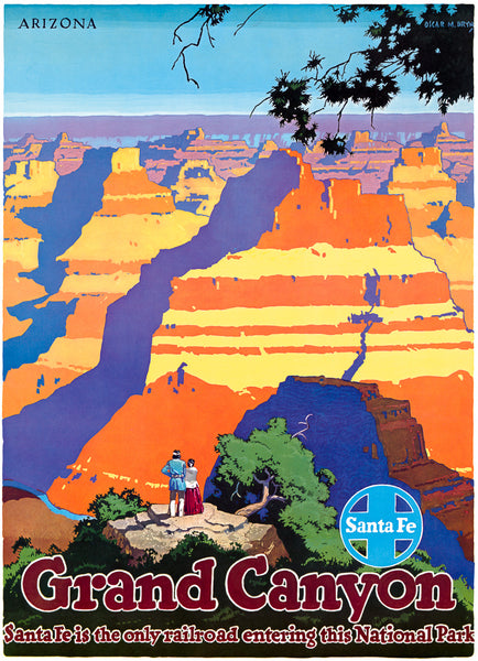 Grand Canyon, Arizona: Santa Fe Railroad poster