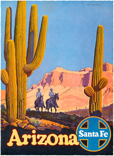 Arizona Cowboys: Santa Fe Railroad poster