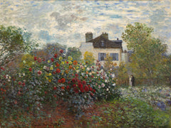 The Artist's Garden in Argenteuil by Claude Monet