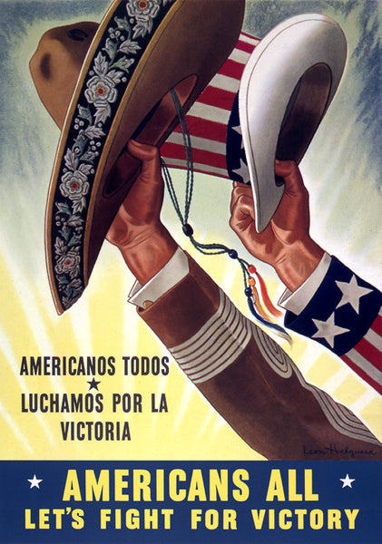Americans All, Let's Fight for Victory WWII poster