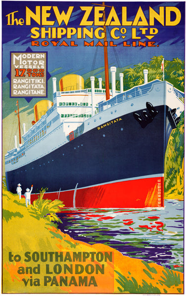 New Zealand Shipping Company Vintage Travel Poster