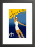 La Côte d'Azur - French Riviera framed poster