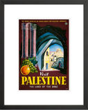 Visit Palestine: The Land of the Bible framed poster