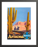 Arizona Cowboys: Santa Fe Railroad framed poster