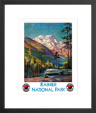 Rainier National Park framed poster