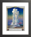 Old Faithful in Yellowstone Park framed poster