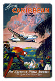 Fly to the Caribbean by Clipper - Vintage Travel Poster