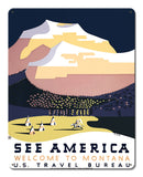 Welcome to Montana National Park poster