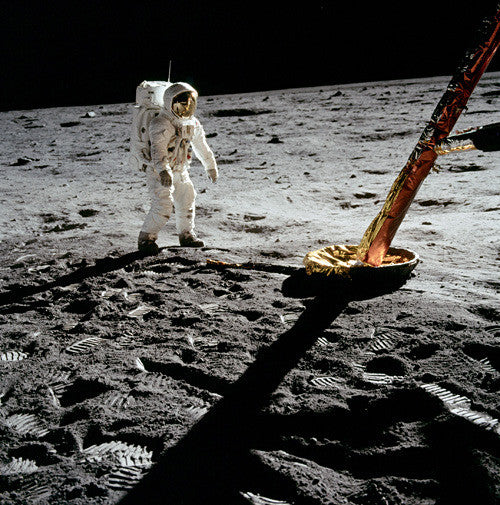 Aldrin Next to Lunar Module