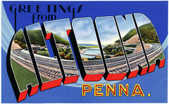 Greetings from Altoona Post Card