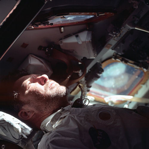 Apollo 7 Astronaut in Orbit