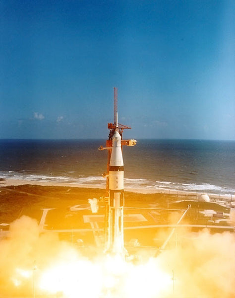 Apollo 7 Lifts Off
