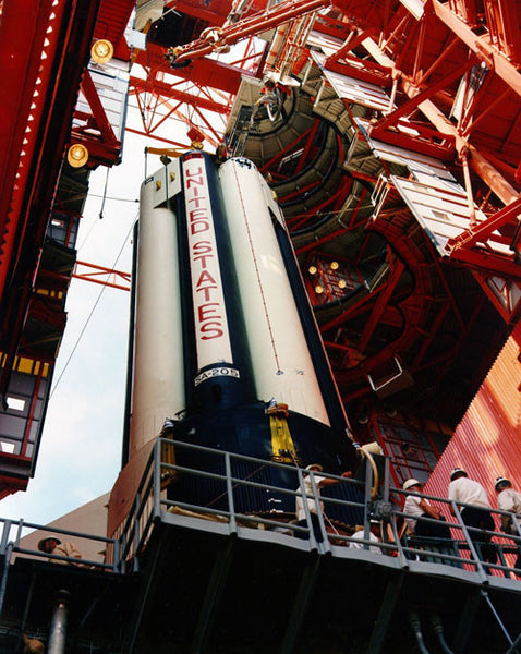 Apollo 7 Saturn Erection