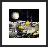 Lunar Unicycle framed print