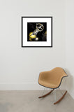 Atomic Pulse Rocket framed print in room