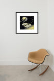 Cosmic Butterfly framed print in room