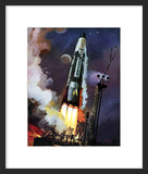 General Electric Atlas Rocket framed print
