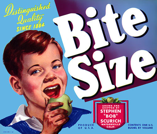 Bite Size Apples Crate Label
