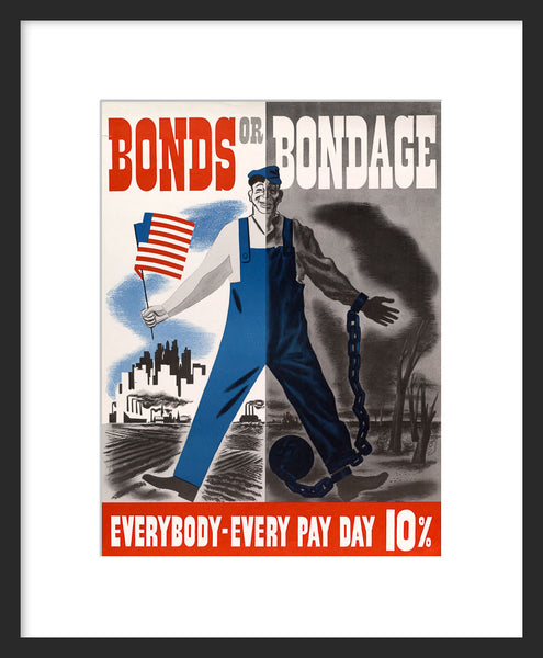 Bonds or Bondage poster framed