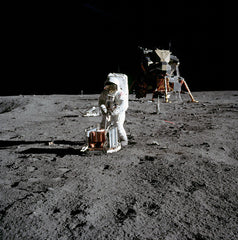 Buzz Aldrin and Seismic Experiment