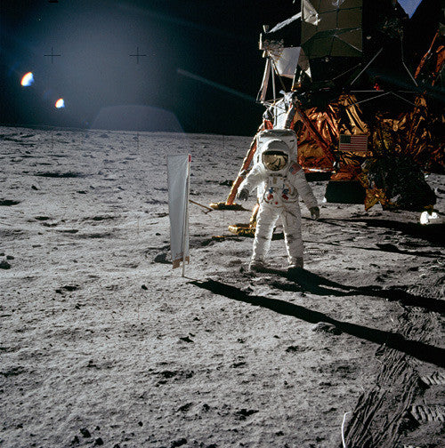 Buzz Aldrin and Solar Wind Experiment