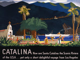 Catalina Vintage Travel Poster