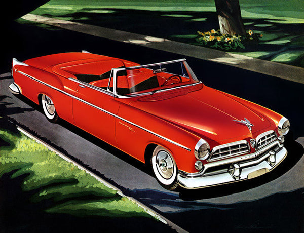 1955 Red Chrysler Convertible
