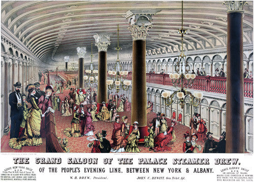 The Grand Saloon of the Palace Steamer Drew