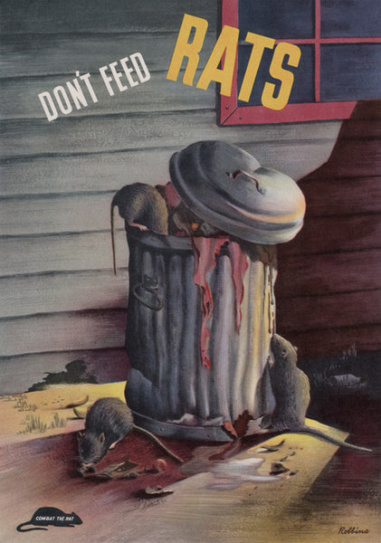 Don't Feed Rats. Combat the Rat health and safety poster