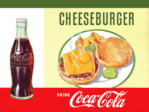 Eat Cheeseburger. Drink Coca-Cola.