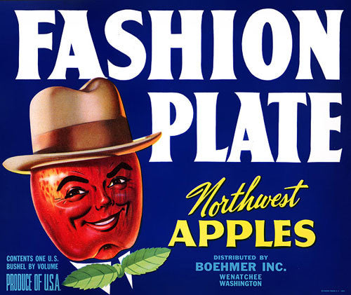 Fashion Plate Northwest Apples