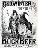 Geo. Winter Brewing Co. Bock Beer