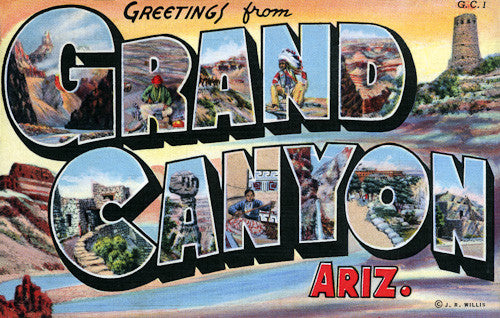 Greetings from Grand Canyon postcard