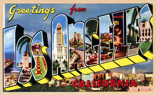 1940s 50s postcards vintagraph prints greetings from los angeles m4hsunfo